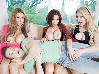 badmilfs farrah dahl ryder skye and laura bentley - The More BadMILFs the Better