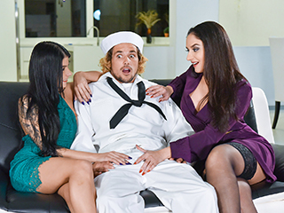badmilfs sheena ryder and sadie pop - No Navy For My Baby