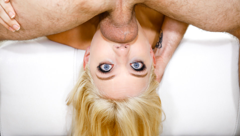 Blue-Eyed Angel Facefucked