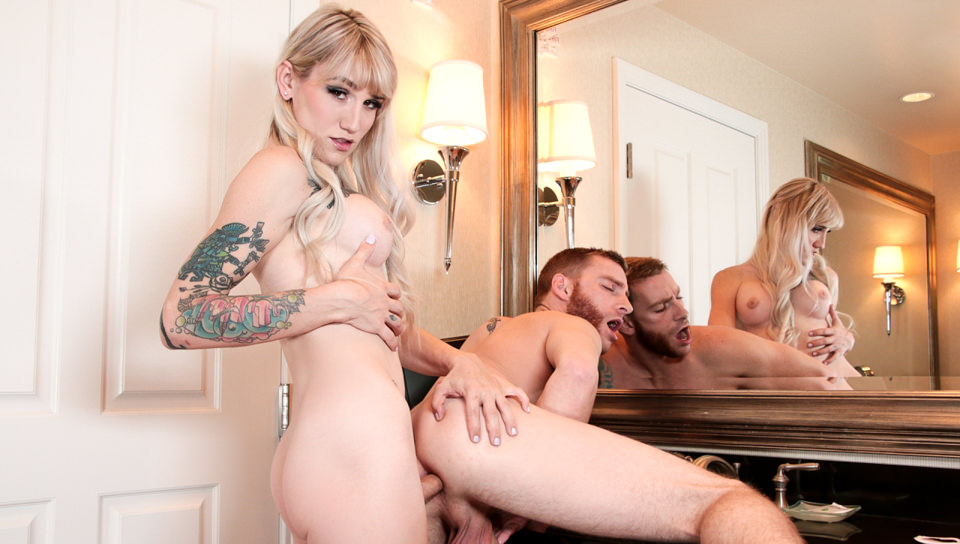 TS Lena & Boyfriend Trade Buttfucks