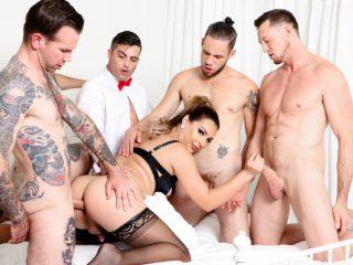 74309 04 01 320x240 - Kinky TS Chanel's 5-Cock Gangbang!