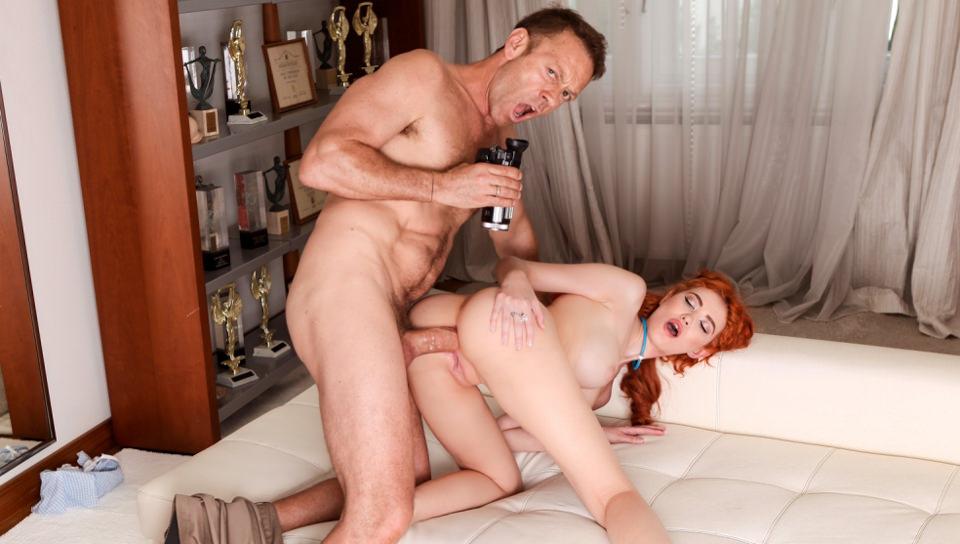 Gisha Forza Redhead's Big Cock Anal/A2M Audition