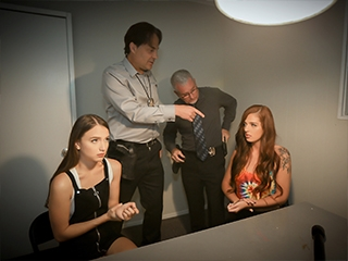Izzy Lush and Scarlett Mae Interrogation Penetration Pt.1