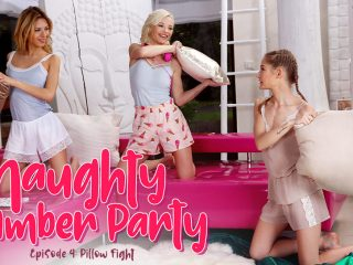 51590 01 01 320x240 - Naughty Slumber Party: Pillow Fight!