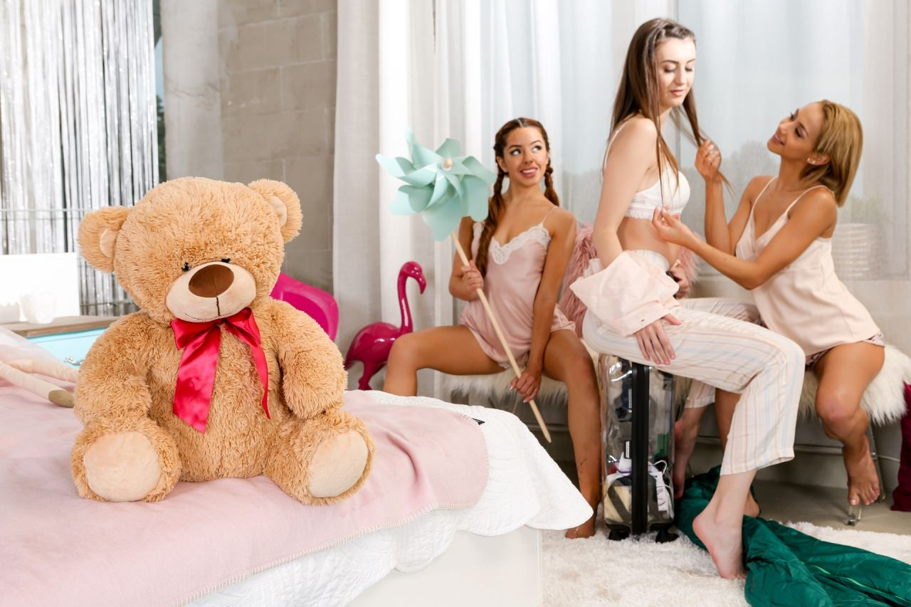 Naughty Slumber Party: Comparing Boobs