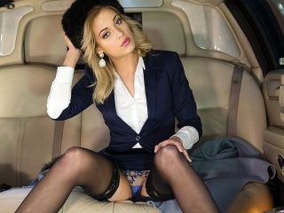 Classy New Cummer Ria Sunn Gets Destroyed in the Back of a Limo