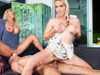 German Milfs Julia Pink & Lana Vegas Have a Hot Trio