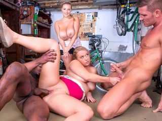 Crystal Swift and Bambi Bella Curvy Busty Babes Let Loose In the Workshop