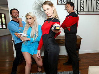 daughterswap riley kay and violet storm - Live Long And Suck Sci Fi Dick