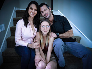fostertapes alexis zara and macy meadows - Alexis Zara and Macy Meadows Lonely Foster Daughter Offers Her Body