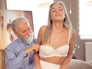 Nice cock of old teacher was main target for slutty beauty