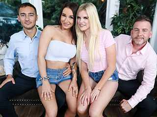 Family Agreement Foursome Sex Alessia Luna and Nikki Sweet