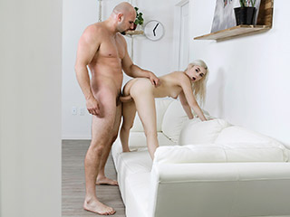 Tiny Blonde Teen Fucks Big Fat Cock Aria Banks