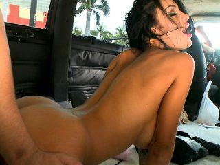 Hot pornstar rides the BangBus
