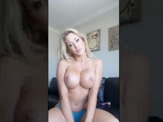 Capri oils up her perfect tits and ass