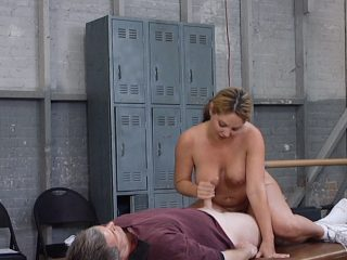 kd20 320x240 - Stacked cheerleader gives her coach a special handjob!