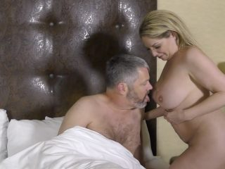 Kiki makes her creepy husband eat cum off her body