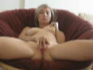 Sexy blonde girl next door masturbates her pussy and sucking her nipples on webcam