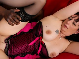 mature69 320x240 - Brunette mature in stockings is anally addicted to BBC