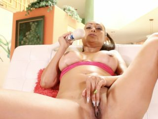 Sexy Indian MIlf Priya Rai using her vibrator to cum