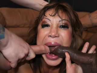 thefacefuckhour01 320x240 - Hot MILF gets her face fucked by two cocks