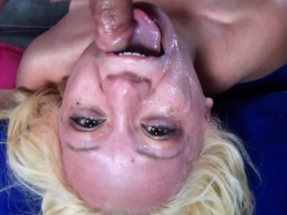 thefacefuckhour03 320x240 - Cute blonde chick gets her face wrecked by two cocks