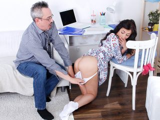 Sexy babe gets fucked after a long additional lesson