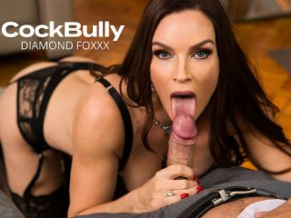 Sharon Fuller (Diamond Foxxx) fucks and sucks huband's bully