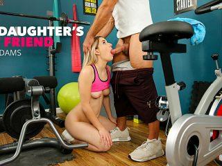 Abby Adams fucks her friend's dad in an empty gym