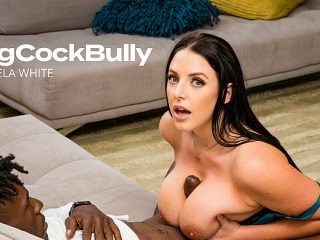 Angela White strips, sucks, and fucks for her husband's promotion