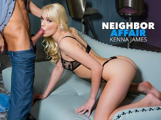 Kenna James hooks up with her single neighbor for extra cash