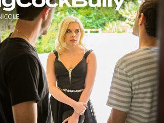 Allie Nicole takes on two big cock bullies