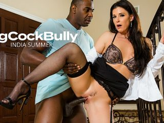 India Summer fucks a big black cock