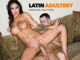 Angelina Valentine hot latina fucks a big cock