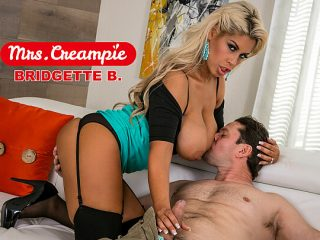 Bridgette B. is a lonely, kinky housewife in need of anal and cream!