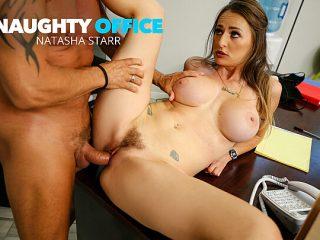 Big tits boss Natasha Starr fucks her new employee