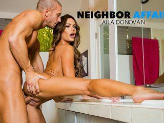 Aila Donovan fucks in the bathroom
