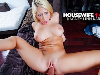 Wife Kagney Linn Karter fucking her husbands big cock