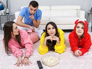 bestfriendsfuck 22020 023 - Natalia Nix, Dani Damzel and Dakota Burns Stepbrother Crashes Slumber Party