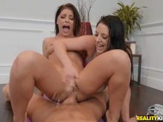 Adriana Chechik & Angela White Pussy Squirting Threesome