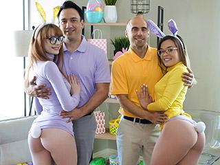 daughterswap cecelia taylor and katie kush - Naughty Bunnies Easter Swap Cecelia Taylor and Katie Kush