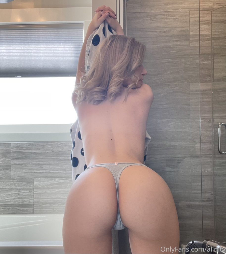 Alinity nude topless big sexy ass in thongs - Alinity Nude OnlyFans Sensual Tits In Shower