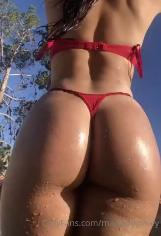 Madison Ginley perfect booty in red bikini - Madison Ginley Nude Xxx OnlyFans Leaks