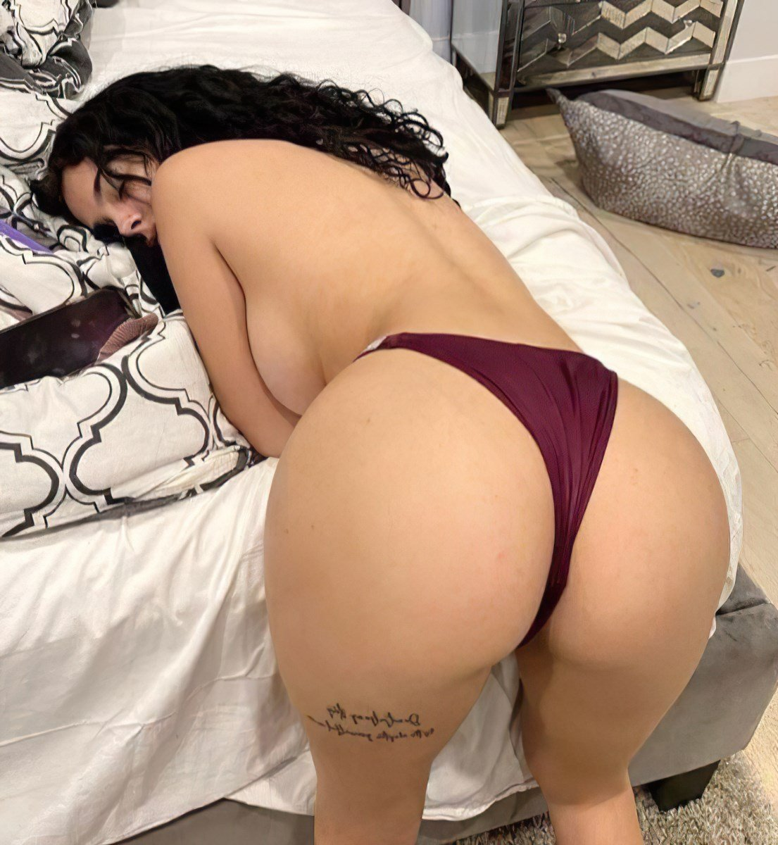 Malu Trevejo topless nude big ass bent over on bed - Malu Trevejo Nude In The Shower OnlyFans Leaked Video